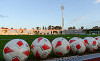 20190304 - LARNACA , CYPRUS :  illustration picture shows the pitch during a women's soccer game between Nigeria and the Belgian Red Flames , on Monday 4 th March 2019 at the GSZ Stadium in Larnaca , Cyprus . This is the third and last game in group C for both teams during the Cyprus Womens Cup 2019 , a prestigious women soccer tournament as a preparation on the Uefa Women's Euro 2021 qualification duels. PHOTO SPORTPIX.BE | DAVID CATRY