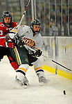 18 January 2008: University of Vermont Catamounts' forward Brian Roloff, a Sophomore from West Seneca, NY, in action against the Northeastern University Huskies at Gutterson Fieldhouse in Burlington, Vermont. The two teams battled to a 2-2 tie in the first game of their 2-game weekend series...Mandatory Photo Credit: Ed Wolfstein Photo