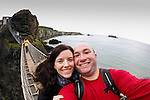 Allison and I on the Carrick-a-Rede Rope Bridge in Ballintoy, County Antrim, Northern Ireland on Saturday, June 22nd 2013. (Photo by Brian Garfinkel)