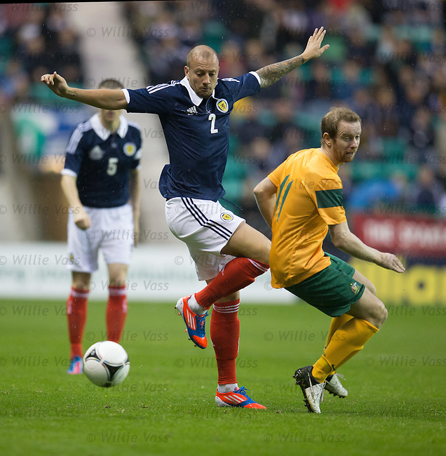 Alan Hutton and David Carney