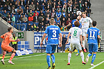 11.05.2019, PreZero Dual Arena, Sinsheim, GER, 1. FBL, TSG 1899 Hoffenheim vs. SV Werder Bremen, <br /> <br /> DFL REGULATIONS PROHIBIT ANY USE OF PHOTOGRAPHS AS IMAGE SEQUENCES AND/OR QUASI-VIDEO.<br /> <br /> im Bild: Johannes Eggestein (SV Werder Bremen #24) trifft das Tor zum 1:0 <br /> <br /> Foto &copy; nordphoto / Fabisch