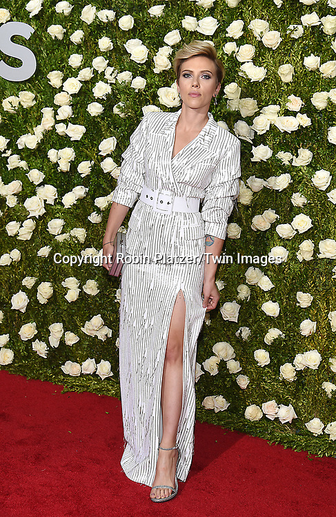 Scarlett Johansson attends the 71st Annual  Tony Awards on June 11, 2017 at Radio City Music Hall in New York, New York, USA.<br /> <br /> photo by Robin Platzer/Twin Images<br />  <br /> phone number 212-935-0770