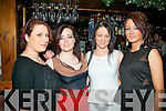 Having fun in Hennessy's bar,Tralee on New Years Eve last Monday night were Tralee girls l-R Nicki Sheehan,Aimee Fogarty,Petriona Comerford and Louise Barrett..