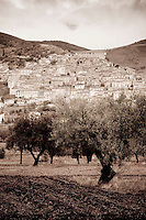 The small village of Navelli in the province of L' Aquila in Abruzzo, Italy where saffron has been cultivated and harvested for more than 450 years.