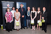 Service to Sport recipients Brian McClure, Heather Raudson, Andy Riley, Tracey Redhead, Shirley Waipori, Sue Miller, Paul Stenberg. Counties Manukau Sport  Sporting Excellence Awards held at TelstraClear Pacific Events Centre, Manukau City, on December 10th, 2009.
