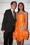 Peter W Kunhardt Jr. and Zoe Haydock pose on red carpet at the Gordon Parks Foundation 2014 Award Dinner and Auction on June 3, 2014 at Cipriani Wall Street, located on 55 Wall Street.