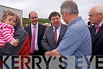 CAMPAIGNING: Taoiseach Brian Cowen (centre) campaigning in Kenmare on Friday.