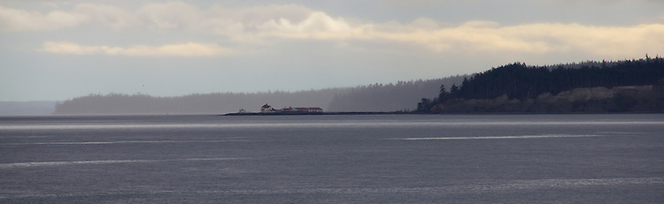 Marrowstone Point lighthouse, Puget Sound, Marrowstone Island, Port Townsend, Washington State, Pacific Northwest,