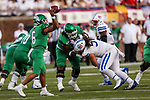 North Texas Mean Green quarterback Mason Fine (6) in action during the game between the UNT Mean Green and the SMU Mustangs at the Gerald J. Ford Stadium in Fort Worth, Texas.