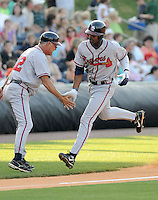 May 9, 2008: Outfielder Jason Heyward (24) of the Rome Braves, Class A affiliate of the Atlanta Braves, in a game against the Greenville Drive at Fluor Field at the West End in Greenville, S.C.   Photo by:  Tom Priddy/Four Seam Images