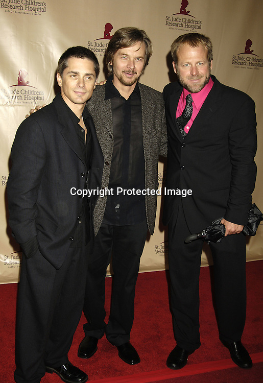 Billy Warlock, Stephen Nichols and Kin Shriner ..at the 11th Annual Daytime Television Salutes St. Jude Children's Research Hospital benefit hosted by Martha Byrne on October 14, 2005 at The New York Marriott Marquis Hotel. ..Photo by Robin Platzer, Twin Images