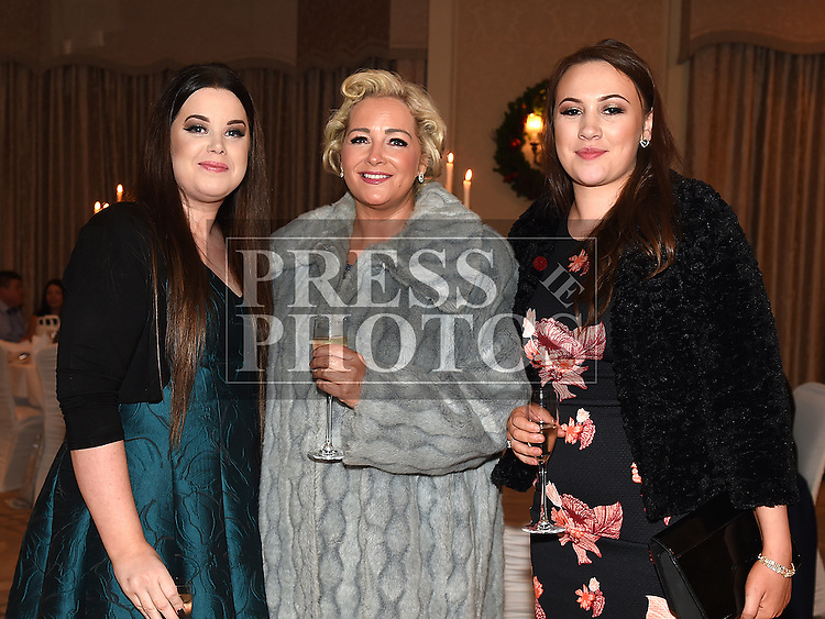 Tracy Traynor, Aoife Durnin and Jackie G at the Baile Atha Fherdia Traders Awards in the Nuremore hotel Carrickmacross. Photo:Colin Bell/pressphotos.ie