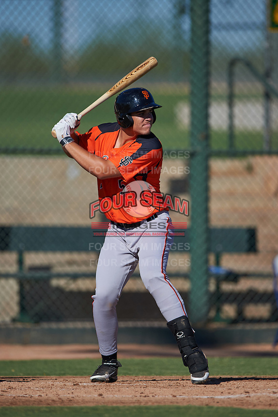 San Francisco Giants Jonah Arenado (5) during an instructional league game against the Kansas City Royals on October 23, 2015 at the Papago Baseball Facility in Phoenix, Arizona.  (Mike Janes/Four Seam Images)