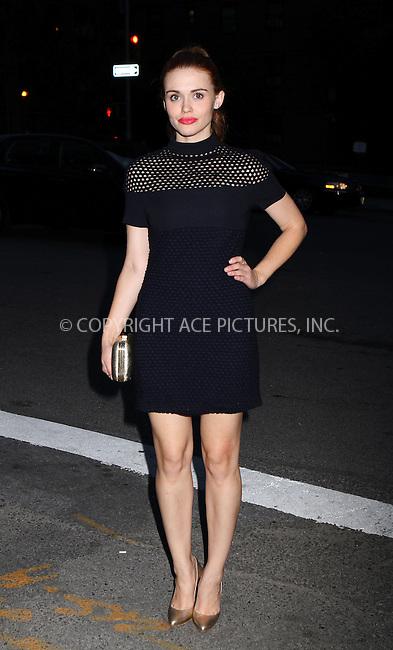 WWW.ACEPIXS.COM<br /> <br /> September 7 2013, New York City<br /> <br /> Holland Roden at Mercedes-Benz Fashion Week on September 7 2013 in New York City<br /> <br /> By Line: Nancy Rivera/ACE Pictures<br /> <br /> <br /> ACE Pictures, Inc.<br /> tel: 646 769 0430<br /> Email: info@acepixs.com<br /> www.acepixs.com