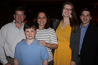 NWA Democrat-Gazette/CARIN SCHOPPMEYER Tony Cardarelli (from left), A.J. Cardarelli, Emi Cardarelli, Hanna Lineman and James Lineman enjoy the Boys and Girls Club celebration.