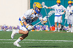 Santa Barbara, CA 04/16/16 - Troy Loper (UCSB #21) in action during the final regular MCLA SLC season game between Chapman and UC Santa Barbara.  Chapman defeated UCSB 15-8.