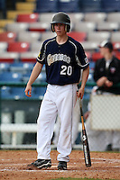March 21, 2010:  Josh Leavitt (20) of the Genesee Community College Cougars during a game at Holman Stadium at Dodgertown in Vero Beach, FL.  Photo By Mike Janes/Four Seam Images