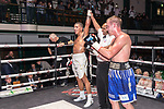 Oli Edwards vs Dan Blackwell 4x3 - Super Middleweight Contest During Goodwin Boxing - Date With Destiny. Photo by: Simon Downing.<br /> <br /> Saturday September 23rd 2017 - York Hall, Bethnal Green, London, United Kingdom.