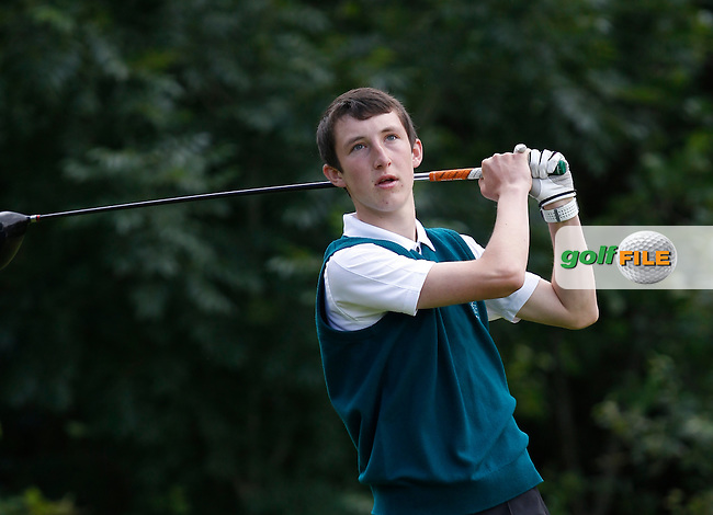 Andrew Nordan (Lee Valley) on the 12th tee during the Semi-Finals of the Munster Bruen &amp; Shield Finals at East Clare Golf Club on Sunday 19th July 2015.<br /> Picture:  Golffile | Thos Caffrey All photo usage must carry mandatory copyright credit (&copy; Golffile | Thos Caffrey)