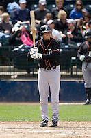 June 8, 2008: Fresno Grizzlies' Brian Bocock at-bat during a Pacific Coast League game against the Tacoma Rainiers at Cheney Stadium in Tacoma, Washington.