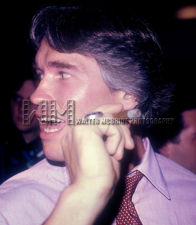 Arnold Schwarzenegger .Attending a party at STUDIO 54 in.New York City..September 1982