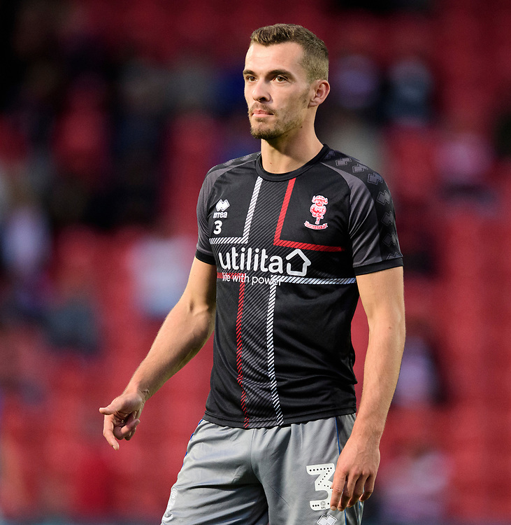 Lincoln City's Harry Toffolo<br /> <br /> Photographer Chris Vaughan/CameraSport<br /> <br /> EFL Leasing.com Trophy - Northern Section - Group H - Doncaster Rovers v Lincoln City - Tuesday 3rd September 2019 - Keepmoat Stadium - Doncaster<br />  <br /> World Copyright © 2018 CameraSport. All rights reserved. 43 Linden Ave. Countesthorpe. Leicester. England. LE8 5PG - Tel: +44 (0) 116 277 4147 - admin@camerasport.com - www.camerasport.com