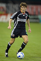 Brandon Prideaux looks to pass the ball. D.C. United defeated the Houston Dynamo 2-0 at RFK Stadium in Washington, D.C. on April 15, 2006
