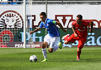 Marvin Mehlem (SV Darmstadt 98) setzt sich durch - 04.08.2019: SV Darmstadt 98 vs. Holstein Kiel, Stadion am Boellenfalltor, 2. Spieltag 2. Bundesliga<br /> DISCLAIMER: <br /> DFL regulations prohibit any use of photographs as image sequences and/or quasi-video.