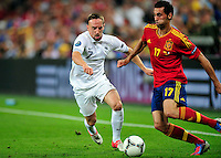 Franck RIBERY   - 23.06.2012 - Espagne / France -1/4 Finale Euro 2012 .Photo : Mathieu Louet / Icon Sport.