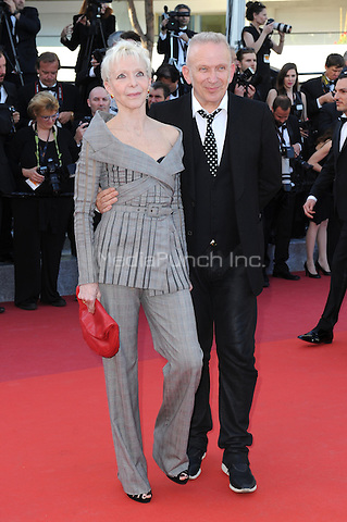 Tonie Marshall and Jean Paul Gaultier  at the &acute;Mal de Pierres` screening during The 69th Annual Cannes Film Festival on May 15, 2016 in Cannes, France.<br /> CAP/LAF<br /> &copy;Lafitte/Capital Pictures /MediaPunch ***NORTH AND SOUTH AMERICA ONLY***
