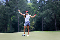 Maria Fassi (MEX) on the 18th green during the final  round at the Augusta National Womans Amateur 2019, Augusta National, Augusta, Georgia, USA. 06/04/2019.<br /> Picture Fran Caffrey / Golffile.ie<br /> <br /> All photo usage must carry mandatory copyright credit (© Golffile | Fran Caffrey)