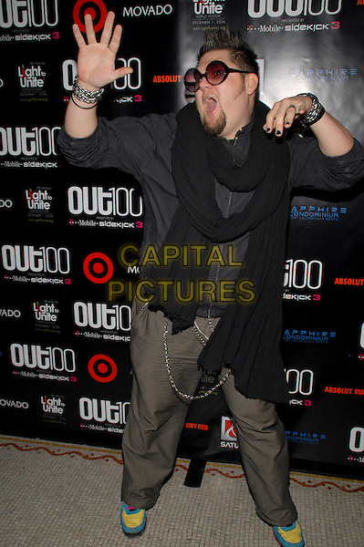 "JAY McCARROLL.""Out""Magazine honors 100 most influential people in gay culture during ""Out 100 Awards"" at Capitale, New York, NY, USA, 10 November 2006..full length sunglasses hand pose funny black scarf.Ref: ADM/PH.www.capitalpictures.com.sales@capitalpictures.com.©Paul Hawthorne/AdMedia/Capital Pictures. *** Local Caption ***"