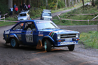 Bob Adamson / Dick Wardle at Junction 6, on Special Stage 1 Craigvinean in the Colin McRae Forest Stages Rally 2012, Round 8 of the RAC MSA Scotish Rally Championship which was organised by Coltness Car Club and based in Aberfeldy on 5.10.12.