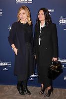(L-R) Actress, Producer Julie Gayet and producer Elisa Soussan attend the 'Diner Des Producteurs' - Producer's Dinner - Cesar 2017 at Four Seasons Hotel George V on February 20, 2017 in Paris, France. # DINER DES PRODUCTEURS DES CESAR 2017