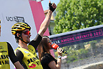 Primoz Roglic (SLO) Team Jumbo-Visma at sign on before the start of Stage 12 of the 2019 Giro d'Italia, running 158km from Cuneo to Pinerolo, Italy. 23rd May 2019<br /> Picture: Gian Mattia D'Alberto/LaPresse | Cyclefile<br /> <br /> All photos usage must carry mandatory copyright credit (© Cyclefile | Gian Mattia D'Alberto/LaPresse)