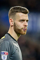 Angus Gunn of Norwich City during the Sky Bet Championship match between Cardiff City and Norwich City at the Cardiff City Stadium, Cardiff, Wales on 1 December 2017. Photo by Mark  Hawkins / PRiME Media Images.
