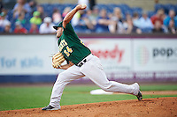 Lynchburg Hillcats starting pitcher Sean Brady (34) during a game against the Wilmington Blue Rocks on June 3, 2016 at Judy Johnson Field at Daniel S. Frawley Stadium in Wilmington, Delaware.  Lynchburg defeated Wilmington 16-11 in ten innings.  (Mike Janes/Four Seam Images)