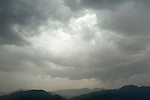 Storm Clouds over View of Atlas Mountains, Near Lalla Takerkoust, South Marrakech, Morocco,