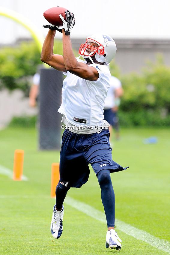 New England Patriots wide receiver Michael Jenkins (10) during the New England Patriots Organized Team Activities held at Gillette Stadium in Foxborough Massachusetts.  Eric Canha/CSM