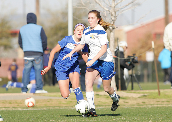 Frisco, TX - MARCH 3: 2013 US Youth Olympic Development Program Region 97 Girls Championship Eastern New York v California South Field 7 at The Fields at FC Dallas Stadium on March 3, 2013 in Frisco, Texas. (Photo by Rick Yeatts)