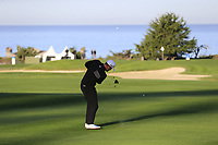 NFL Green Bay Packers quarterback Aaron Rodgers plays his 3rd shot on the 1st hole at Spyglass Hill during Thursday's Round 1 of the 2018 AT&amp;T Pebble Beach Pro-Am, held over 3 courses Pebble Beach, Spyglass Hill and Monterey, California, USA. 8th February 2018.<br /> Picture: Eoin Clarke | Golffile<br /> <br /> <br /> All photos usage must carry mandatory copyright credit (&copy; Golffile | Eoin Clarke)