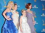 January Jones, Elizabeth Moss, Kiernan Shipka, and Christina Hendricks  at The 62nd Anual Primetime Emmy Awards held at Nokia Theatre L.A. Live in Los Angeles, California on August 29,2010                                                                   Copyright 2010  DVS / RockinExposures