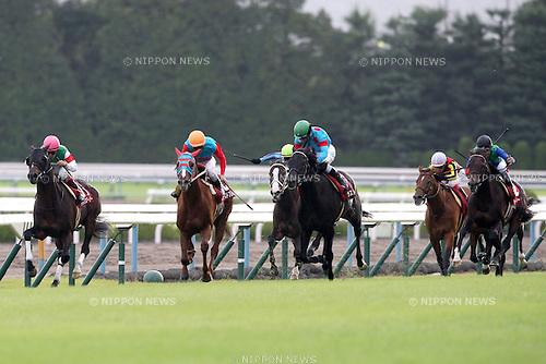 (L-R) To the Glory (Yuichi Fukunaga), Tamamo Best Play (Akihide Tsumura), Koei Otome (Yuichi Kitamura), Last Impact (Yuga Kawada), Victory Star (Kenichi Ikezoe), Tosen Ra (Yutaka Take),<br /> OCTOBER 14, 2014 - Horse Racing :<br /> Last Impact ridden by Yuga Kawada wins the Kyoto Daishoten at Kyoto Racecourse in Kyoto, Japan. (Photo by Eiichi Yamane/AFLO)