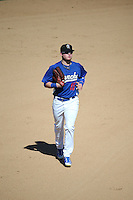 Alex Verdugo (16) of the Rancho Cucamonga Quakes returns to the dugout during a game against the Inland Empire 66ers at LoanMart Field on September 7, 2015 in Rancho Cucamonga, California. Rancho Cucamonga defeated Inland Empire, 7-6. (Larry Goren/Four Seam Images)