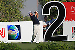 Damien McGrane teeing off on the second.on day one of the Dubai World Championship on the Earth Course at the Jumeirah Golf Estate, Dubai..Picture Fran Caffrey/www.golffile.ie.