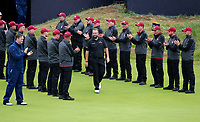 210719 | The 148th Open - Final Round<br /> <br /> An emotional Shane Lowry of Ireland walks out to receive the Claret Jug. 148th Open Championship at Royal Portrush Golf Club, County Antrim, Northern Ireland. Photo by John Dickson - DICKSONDIGITAL