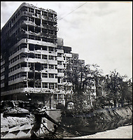 BNPS.co.uk (01202 558833)<br /> Pic:  ChiswickAuctions/BNPS<br /> <br /> Destroyed building in Berlin.<br /> <br /> Remarkable previously unseen photos documenting the momentous closing stages of World War Two and its historic aftermath have come to light.<br /> <br /> They were taken by Sergeant Charles Hewitt, of the Army Film and Photographic Unit, who later went on to work for the Picture Post and the BBC.<br /> <br /> He was present at many of the important offensives of 1944 and '45 including the Battle of Monte Cassino during the Italian Campaign and the Allies advance into Germany following the D-Day invasion.
