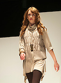 Fashion Show at Further Education College.  Clothes designed by year 2 BA (Hons) Fashion & Textiles students for Pittards (Leather Tannery).