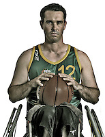 Grant Mizens  (AUS)<br /> Paralympic Portraits - Basketballer<br /> Sydney Australia 2012<br /> London 2012 Paralympic Games<br /> &copy; Sport the library / Jeff Crow