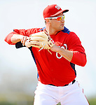 25 February 2012: Washington Nationals' third baseman Ryan Zimmerman fields grounders during their first full squad Spring Training workout at the Carl Barger Baseball Complex in Viera, Florida. Mandatory Credit: Ed Wolfstein Photo